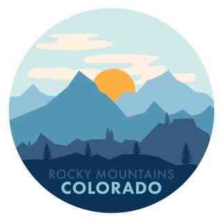 Minimalistic Rocky Mountains