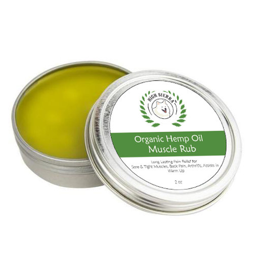 Organic Hemp Oil Muscle Rub
