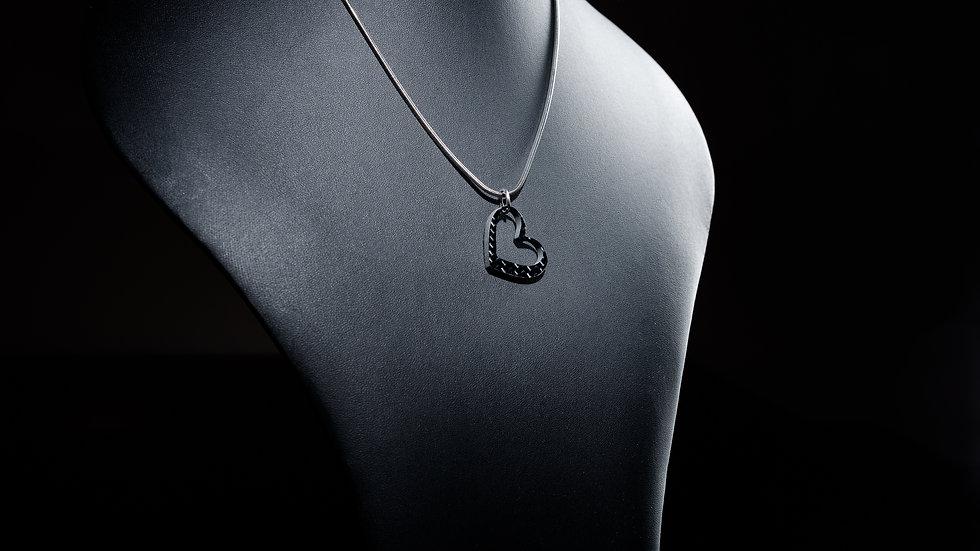 """Anhänger """"Heart"""" aus 100% Carbon"""