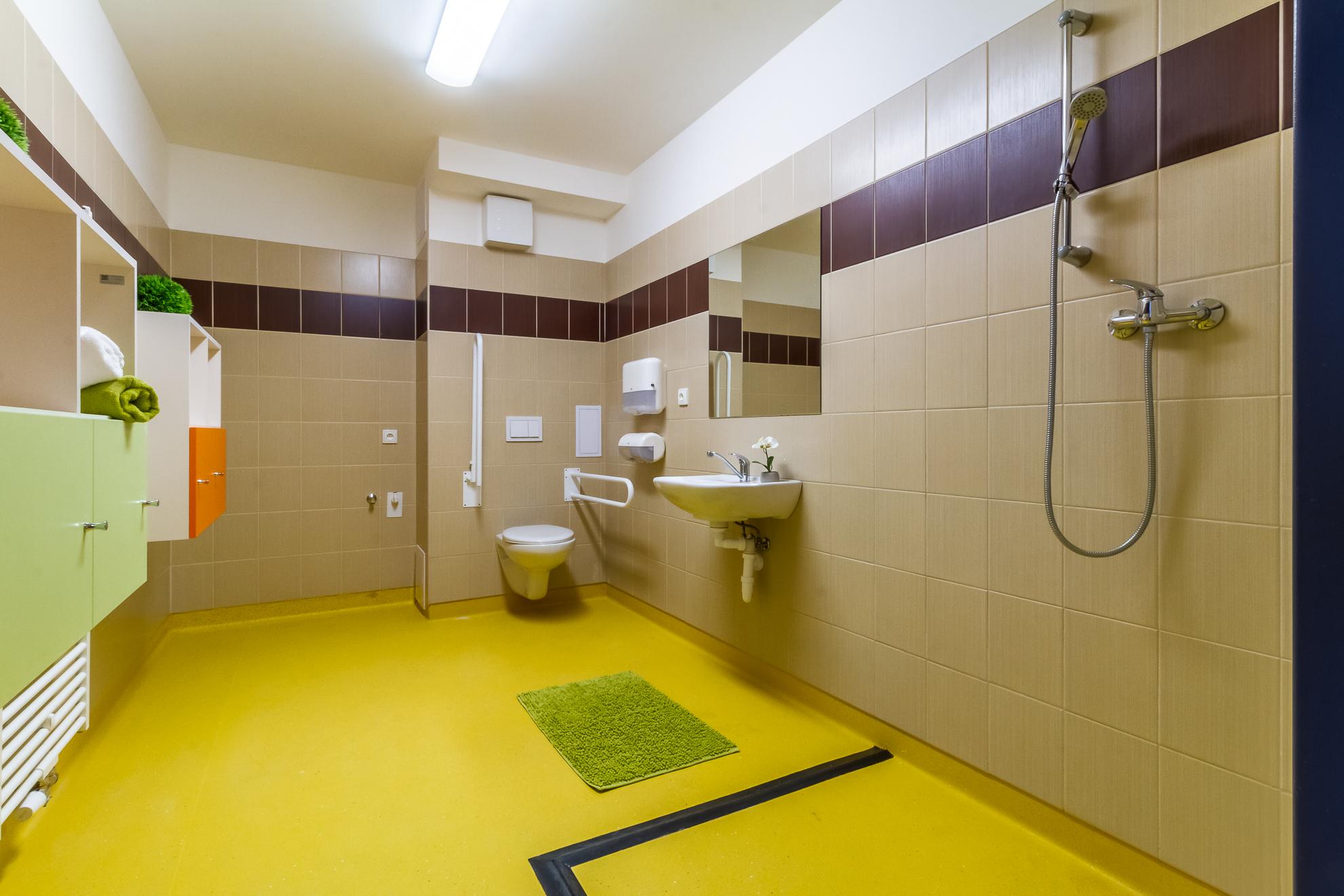 Koupelna s toaletou a sprchovým koutem