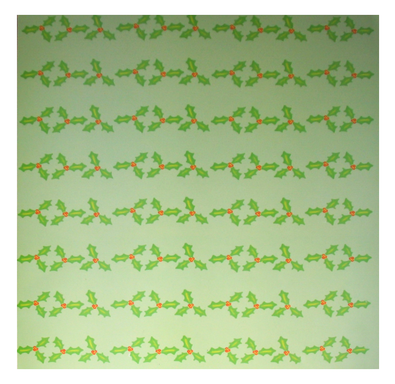"""Mistletoe"" Patterned Paper"