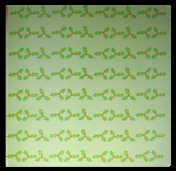 """Mistletoe"" Patterned Paper"
