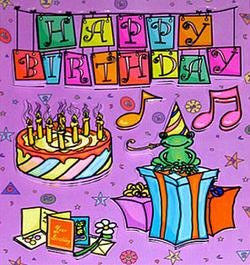 Happy Birthday Dimensional Stickers