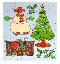 Christmas Dimensional Stickers