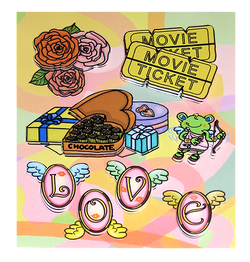 Love Themed Dimensional Stickers