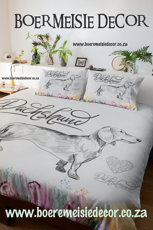 Dachshund Flower  Comforter