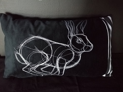 Art bunny scatter cushion