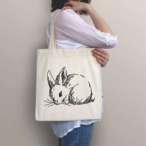 Bunny Fabric shopping Bag