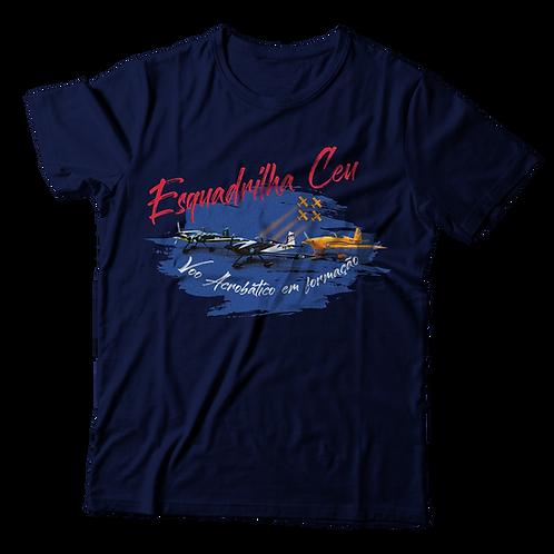 Blusa Masculina - Azul Marinho | Esquadrilha Ceu - Aviões