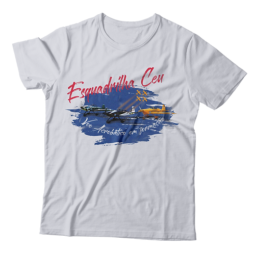 Blusa Masculina - Branca | Esquadrilha Ceu - Aviões