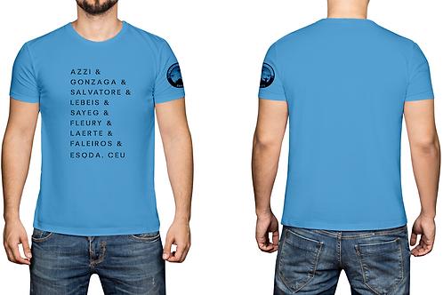 Camisa masculina old collection - Azul - Nome dos pilotos