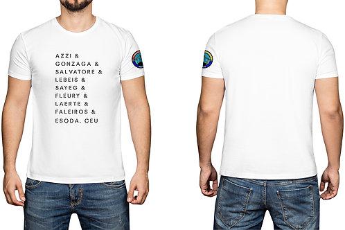 Camisa masculina old collection - Branca - Nome dos pilotos