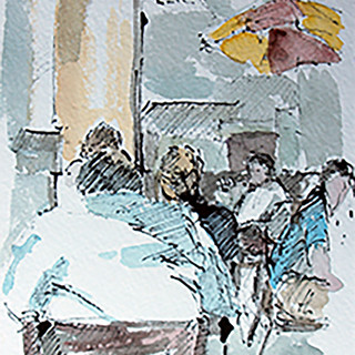 ニューヨークのカフェ