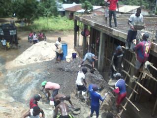 Community Volunteers Help Build Second Floor