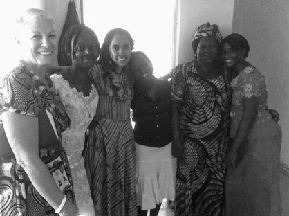 Jean and Sandra with teachers during Lungi in-service trip in 2013