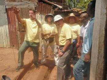 Signpost team assess construction needs on 2012 Wilberforce trip