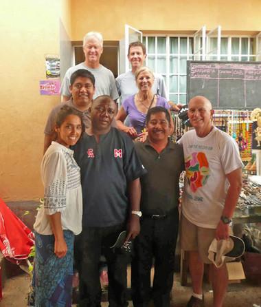 Signpost Team with Enrique, Emanuel, and Pastor Bundega