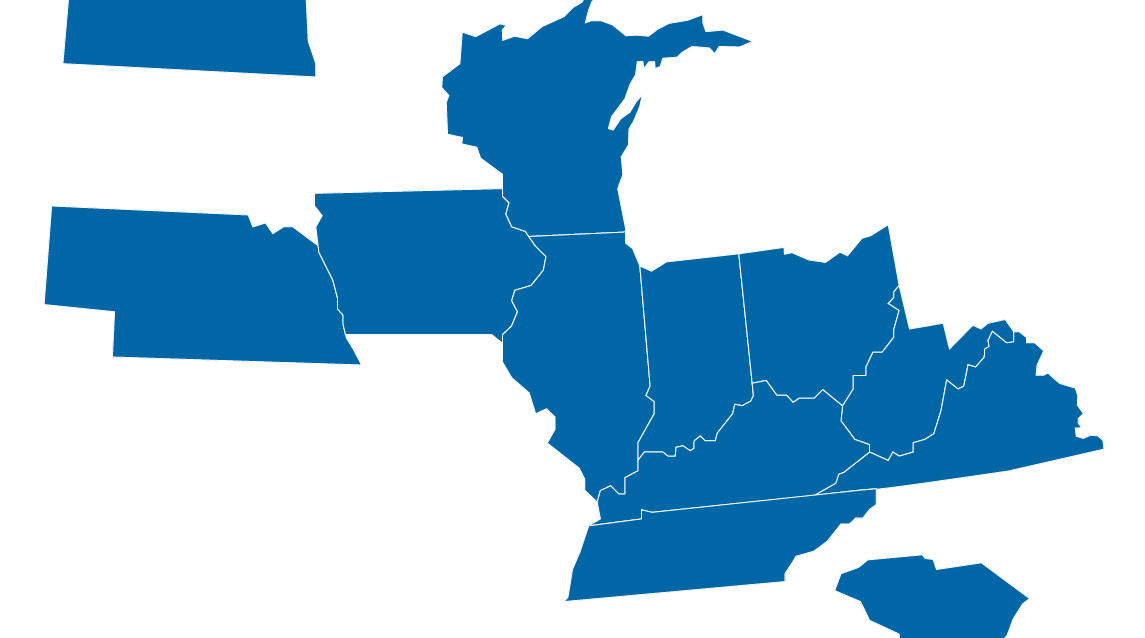 LE Gregg Coverage Map