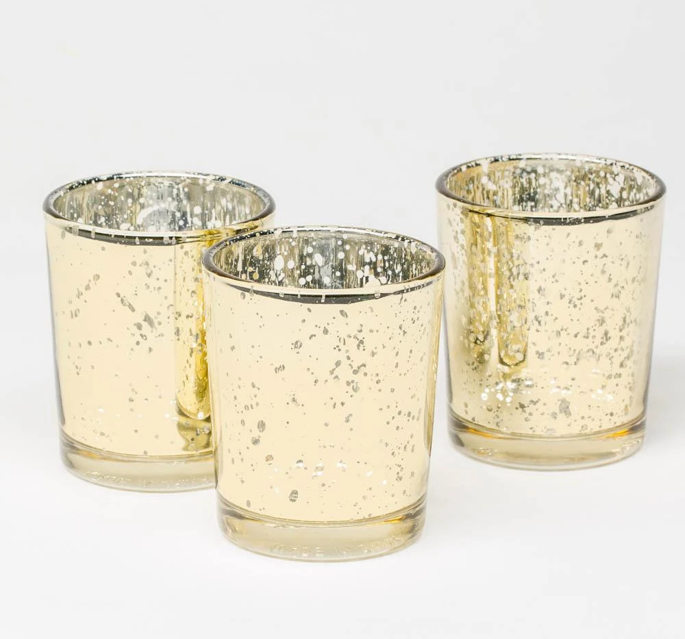 Metallic Gold Votive Holders