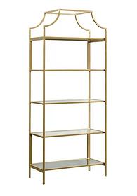 Gold Etagere Shelves