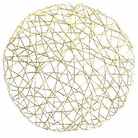Gold Spiral Placemat