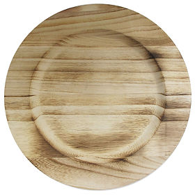 Natural Wood Charger Plate