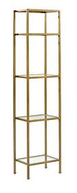Gold Skinny Etagere Shelves