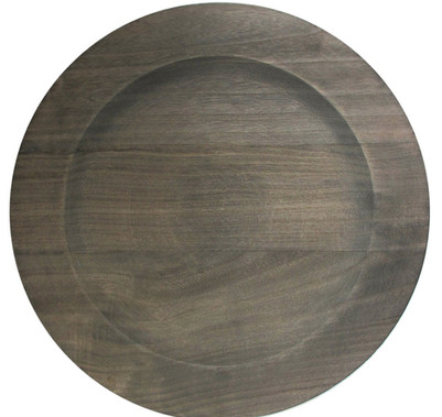 Dark Wood Charger Plate