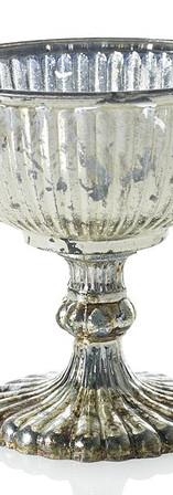Metallic Pedestal Vase