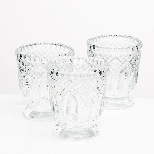 Vintage Clear Votive Candle Holders