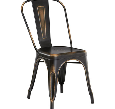 Distressed Copper Chair