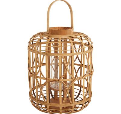 "Bamboo Canal Lantern - 13"" Tall"