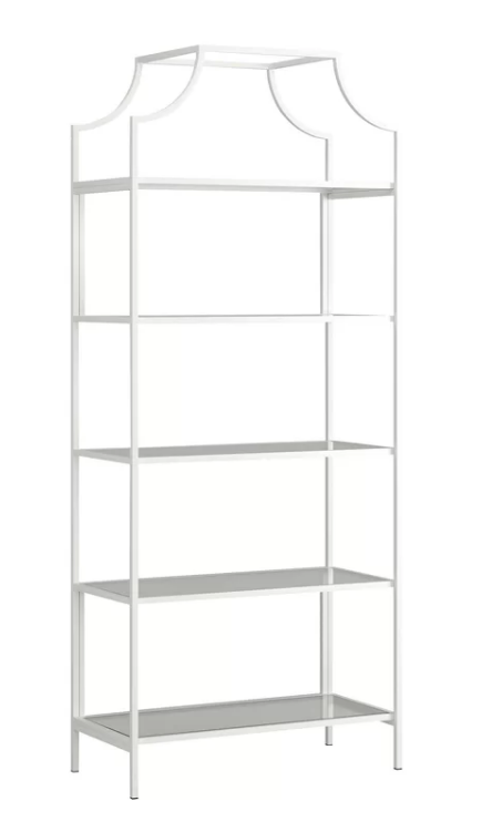 White Glass Display Shelf