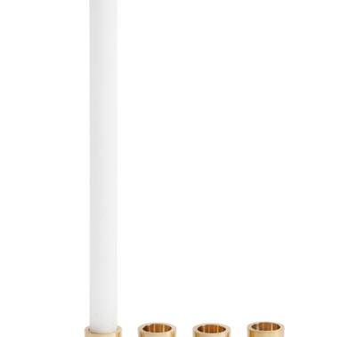Gold Base Candlestick Holder