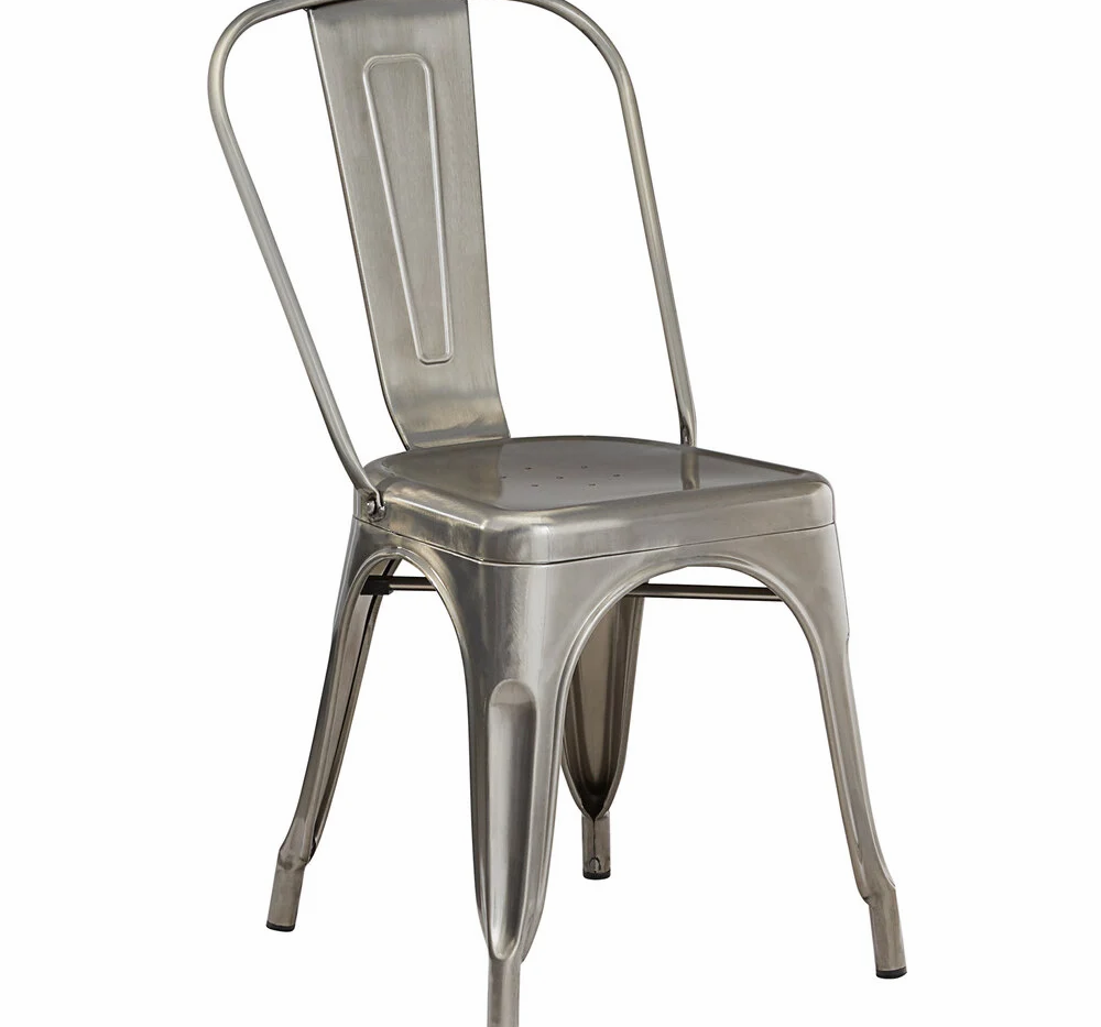 Silver Industrial Chair