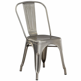 Silver Industrial Chair