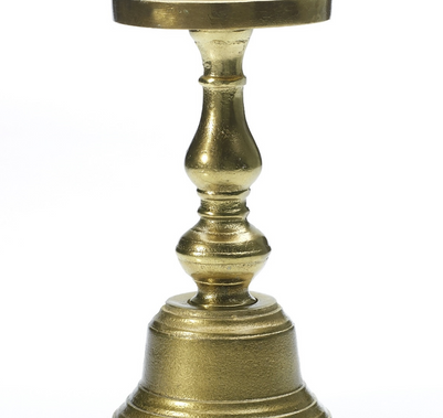 "Athena Pillar Candle Holder - 4.5"" x 11.5"""