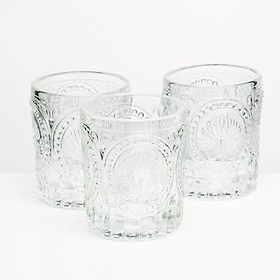 Textured Clear Votive Candle Holders