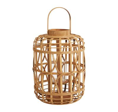 "Bamboo Canal Lantern - 16"" Tall"