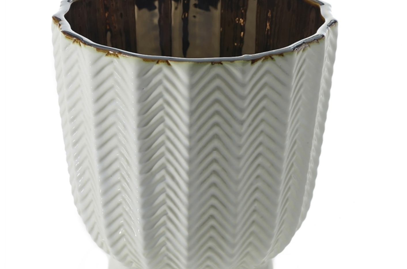 "Melrose Floral Pot - 6.5""x7.25"""