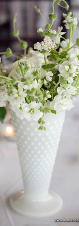 Trumpet Vase - Milk Glass