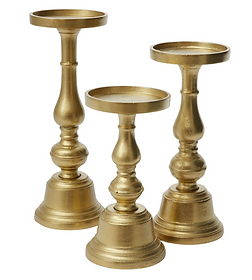Athena Pillar Candle Holders