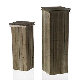 Rustic Pedestal Stands
