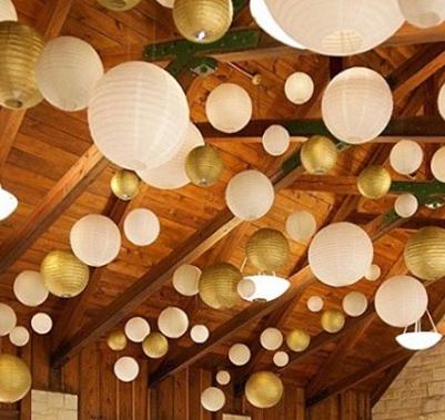 White & Gold Lanterns