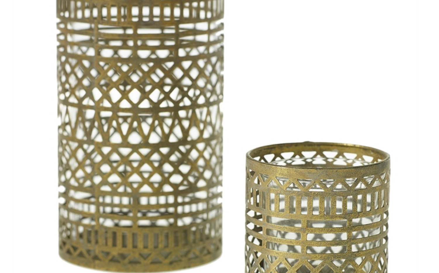 Persian Gold Candle Holders