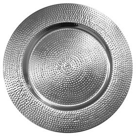 Hammered Silver Gold Charger Plate