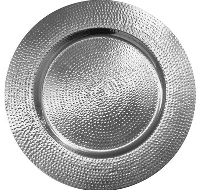 Silver Hammered Charger