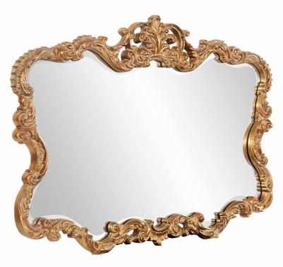 Beveled Gold Vintage Mirror