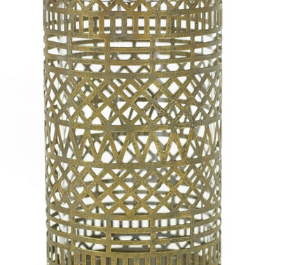 """Persian Gold Candle Holder - 4.25""""x7.5"""""""