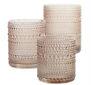 Rose Gold Hobnail Candle Holders